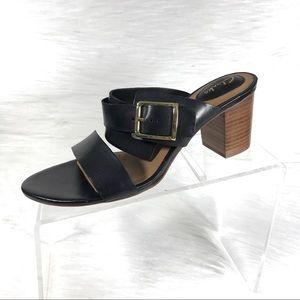 Clarks Artisan Heel Sandals Black Size 8.5 M